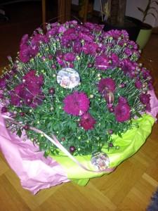Polterabend Blumen Buttons